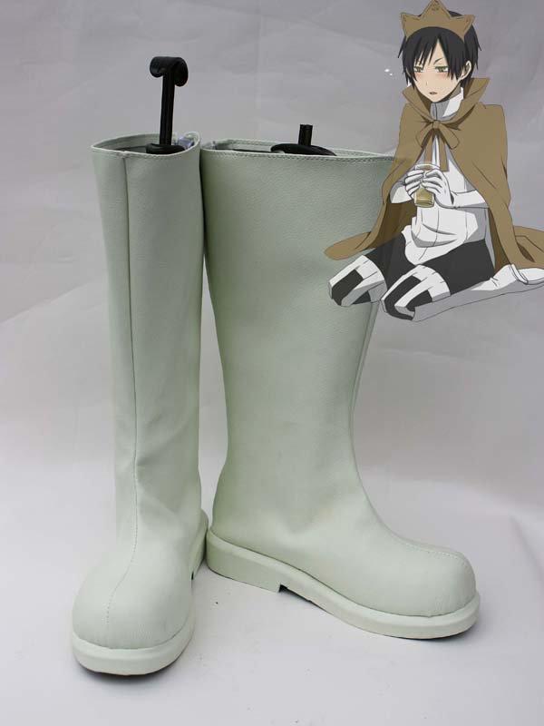 Durarara Orihara Izaya/Hibiya White Cosplay Boots