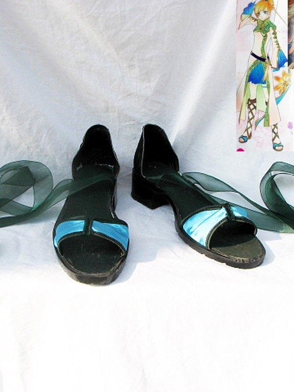 Harukanaru Toki No Naka de 4 Chihiro Ashihara Green Cosplay Shoes