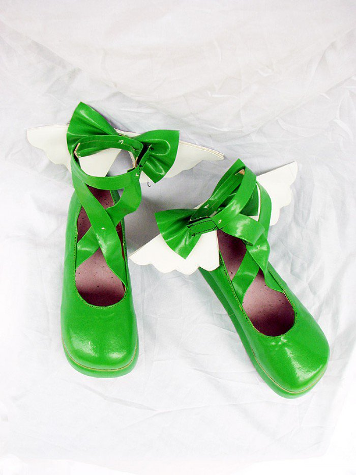 Shugo Chara Hinamori Amu Green Cute Cosplay Shoes