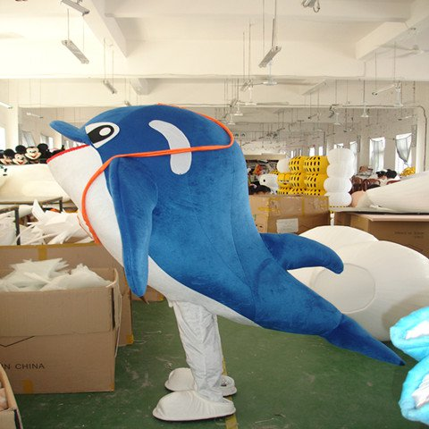 Dolphin Aquarium Animal Cartoon Cartoon Dolls Clothing Props Performances Promote Its Pink Dolphin Cartoon Clothing Mascot Costume
