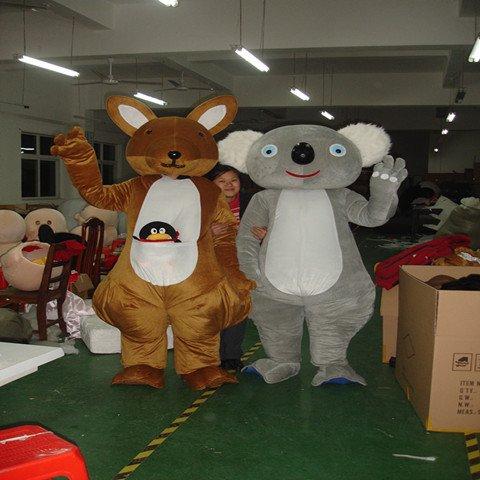 Koala Kangaroo Cartoon Costumes Walking Cartoon Doll Clothing Doll Clothing Doll Costumes Mascot Costume