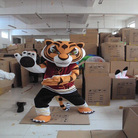 Kung Fu Tiger Cartoon Doll Clothing Cartoon Walking Doll Clothing Cartoon Dolls Clothing Costumes Mascot Costume