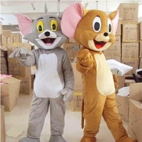 Tom and Jerry Cartoon Dolls Clothing Walking Propaganda Props Cartoon Clothing Cat Jerry Mouse Costume Mascot Costume