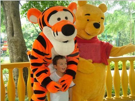 Cartoon Clothing Performance Clothing Cartoon Winnie The Pooh and Tigger Doll Dress Mascot Costume