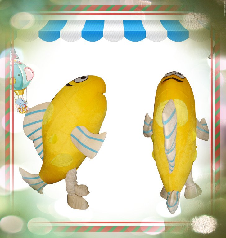 2015 Be Equipped with A Fan Fish Cartoon Dolls Cartoon Clothing Mascot Costume