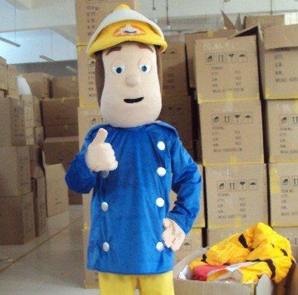 Cartoon Fireman Cartoon Show Clothes L Firefighter Helmets Walking Cartoon Doll Cartoon Props Mascot Costume