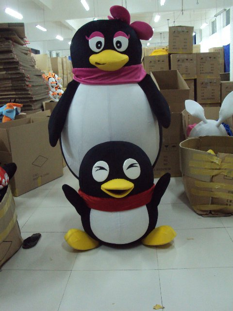 Penguin Cartoon Doll Clothing Cartoon Walking Doll Clothes People Wear Costumes Doll Doll Show Mascot Costume