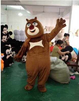Bear Haunt Film and Television Animation Cartoon Costume Costume Suit Xiong Xiong Erguang Head Strong Mascot Costume