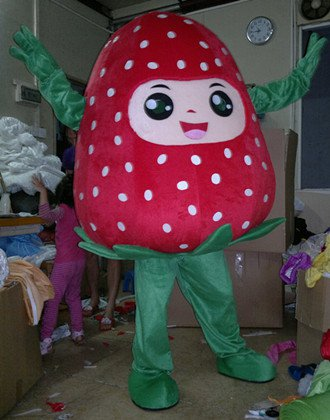 Plant Strawberries Cartoon Doll Clothing Cartoon Clothing Performance Costumes Mascot Costume