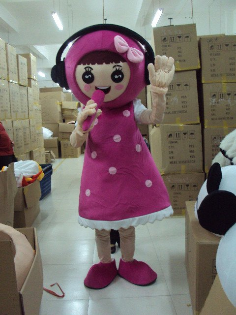 Little Girl Stay Cartoon Walking Doll Clothing Cartoon Doll Doll Cartoon Props Clothing Mascot Costume