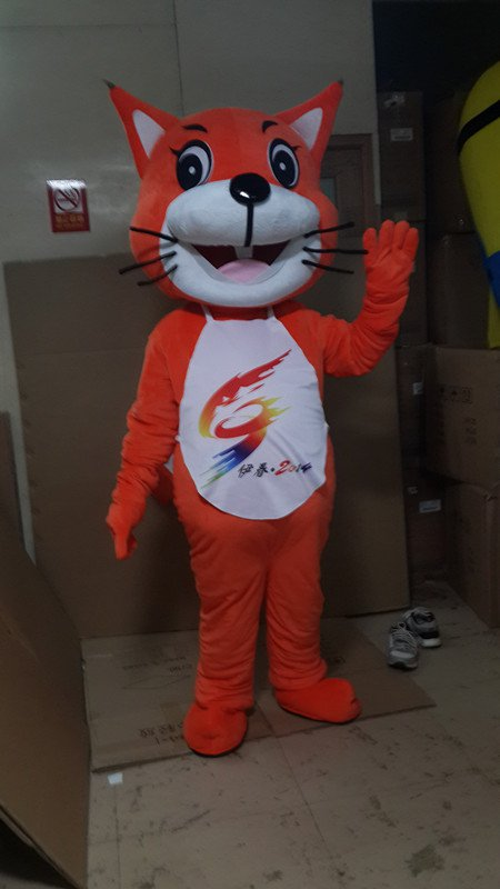 Small Yellow Cat Cartoon Clothing Cartoon Show Clothing Cartoon Clothes Little Yellow Card Cartoon Cat Walking Through Even Costumes Mascot Costume