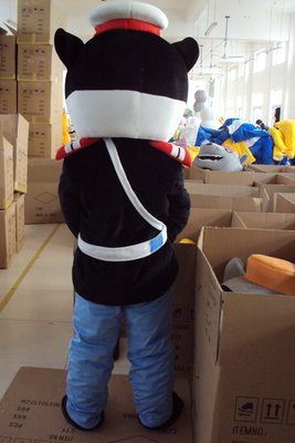 Tom and Jerry Cartoon Clothing Black Sergeant Television Apparel Clothing Walking Doll Mascot Costume