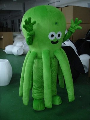Octopus Cartoon Costumes Walking Cartoon Doll Clothing Doll Clothing Doll Costumes Mascot Costume