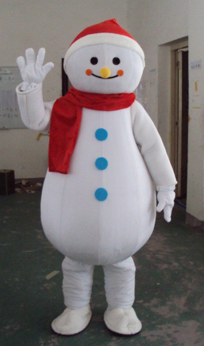 Walking Cartoon Doll Clothing Cartoon Costumes Performing Props Costumes Cartoon Costumes Snowman Mascot Costume