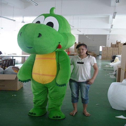 Long Grass Green Dinosaur Cartoon Doll Clothing Cartoon Walking Doll Cartoon Clothing Doll Costumes Mascot Costume
