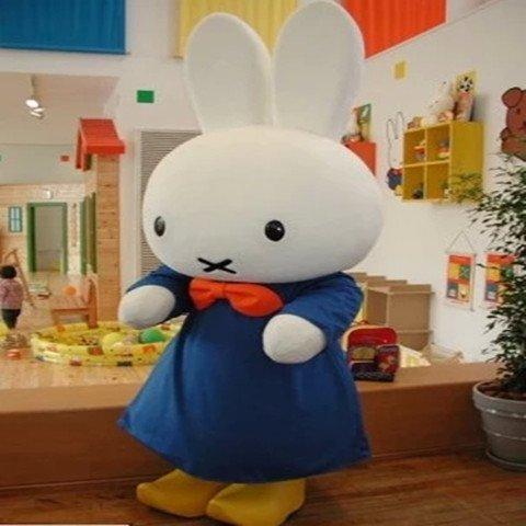 Miffy Cartoon Dolls Walking Cartoon Doll Clothing Clever Rabbit Cartoon Show Props Doll Clothing Mascot Costume