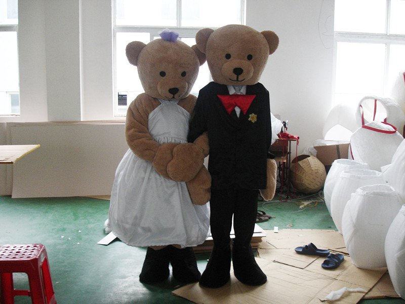 Teddy Bear Wedding Bear Cartoon Doll Clothing Walking Cartoon Doll Doll Cartoon Clothing Performance Props Clothes Mascot Costume