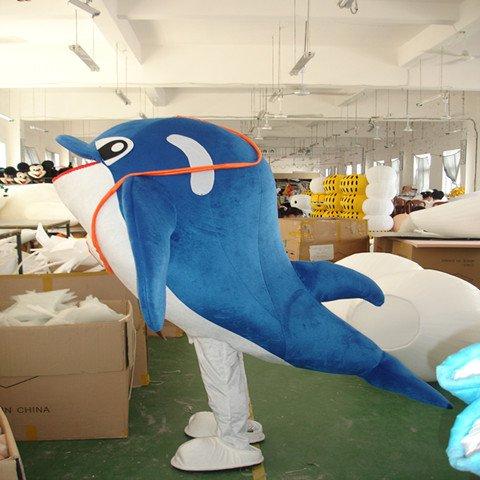Dolphin Cartoon Doll Doll Clothing Cartoon Walking Doll Clothing Cartoon Costumes Performing Props Mascot Costume