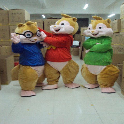 Flowers Squirrel Chipmunk Cartoon Clothing Cartoon Walking Doll Doll Doll Clothing Costumes Mascot Costume