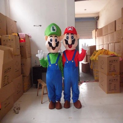Level Mario Cartoon Doll Clothing Doll Clothing Cartoon Walking Doll Cartoon Clothing Performance Props Mascot Costume