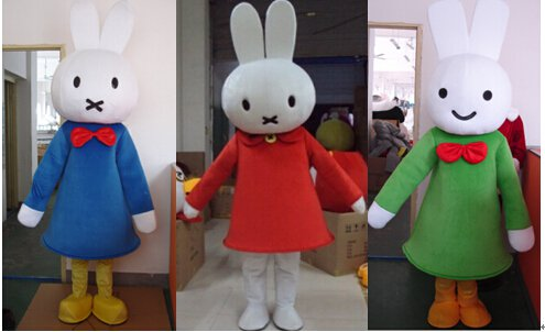 Miffy Cartoon Doll Clothing Performance Clothing Props Television Animation Clever Rabbit Mascot Costume