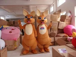 Simeon Kangaroo Cartoon Walking Doll Clothing Doll Clothing Cartoon Costumes Doll Dolls Clothing Mascot Costume