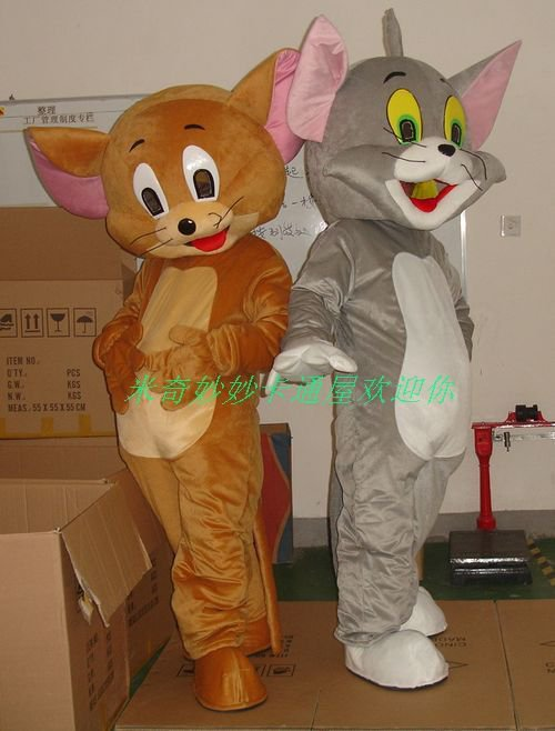 Walking Cartoon Doll Clothing Cartoon Doll Clothing Props Lucky Rat and Cat Mascot Costume