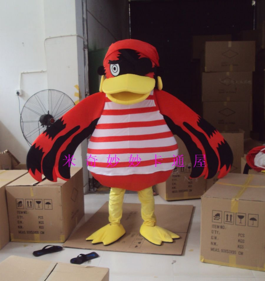 Cartoon Doll Clothing Cartoon Doll Doll Cartoon Costumes Walking Doll Pirate Parrot Mascot Costume