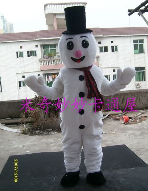 Snowman Costumes Walking Cartoon Doll Clothing Cartoon Costumes Stage Performance Props Promotions Mascot Costume