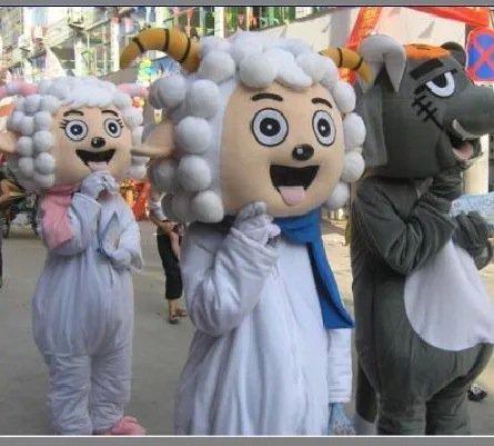 Cartoon Costumes Walking Cartoon Dolls Cartoon Doll Dress Performance Props Ball Beautiful Sheep Mascot Costume