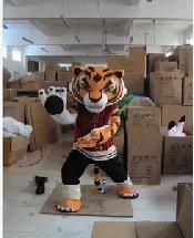Cartoon Costumes Walking Cartoon Dolls Cartoon Doll Dress Performance Props Kung Fu Tiger Mascot Costume