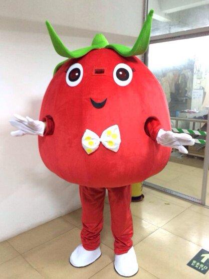 Cartoon Costumes Walking Cartoon Dolls Cartoon Doll Dress Performance Props Large Tomato Mascot Costume