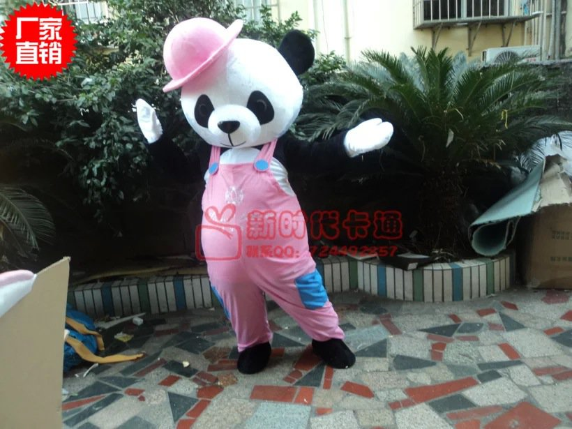 Cartoon Costumes Walking Cartoon Dolls Cartoon Doll Dress Performance Props Panda Mascot Costume