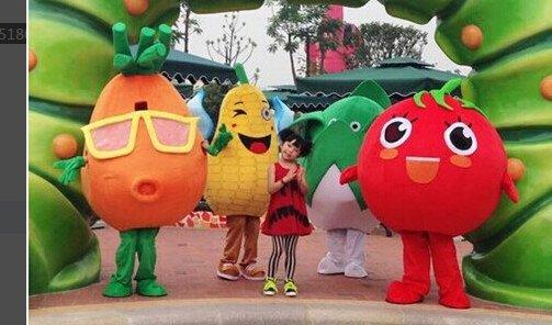 Cartoon Costumes Walking Cartoon Dolls Cartoon Doll Dress Performance Props Red Fruits West City Turnip Cabbage Corn Mascot Costume