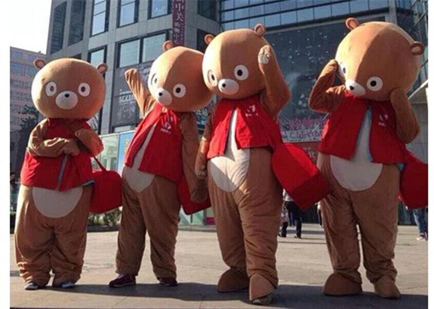 Cartoon Costumes Walking Cartoon Dolls Cartoon Doll Dress Performance Props Backpack Raging Mascot Costume