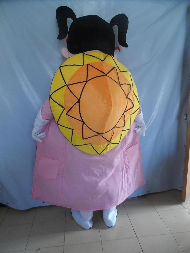 Charity Woman Beauty Superman Cape Braids Cartoon Dolls Cartoon Clothing Front Dress Fashion Mascot Costume