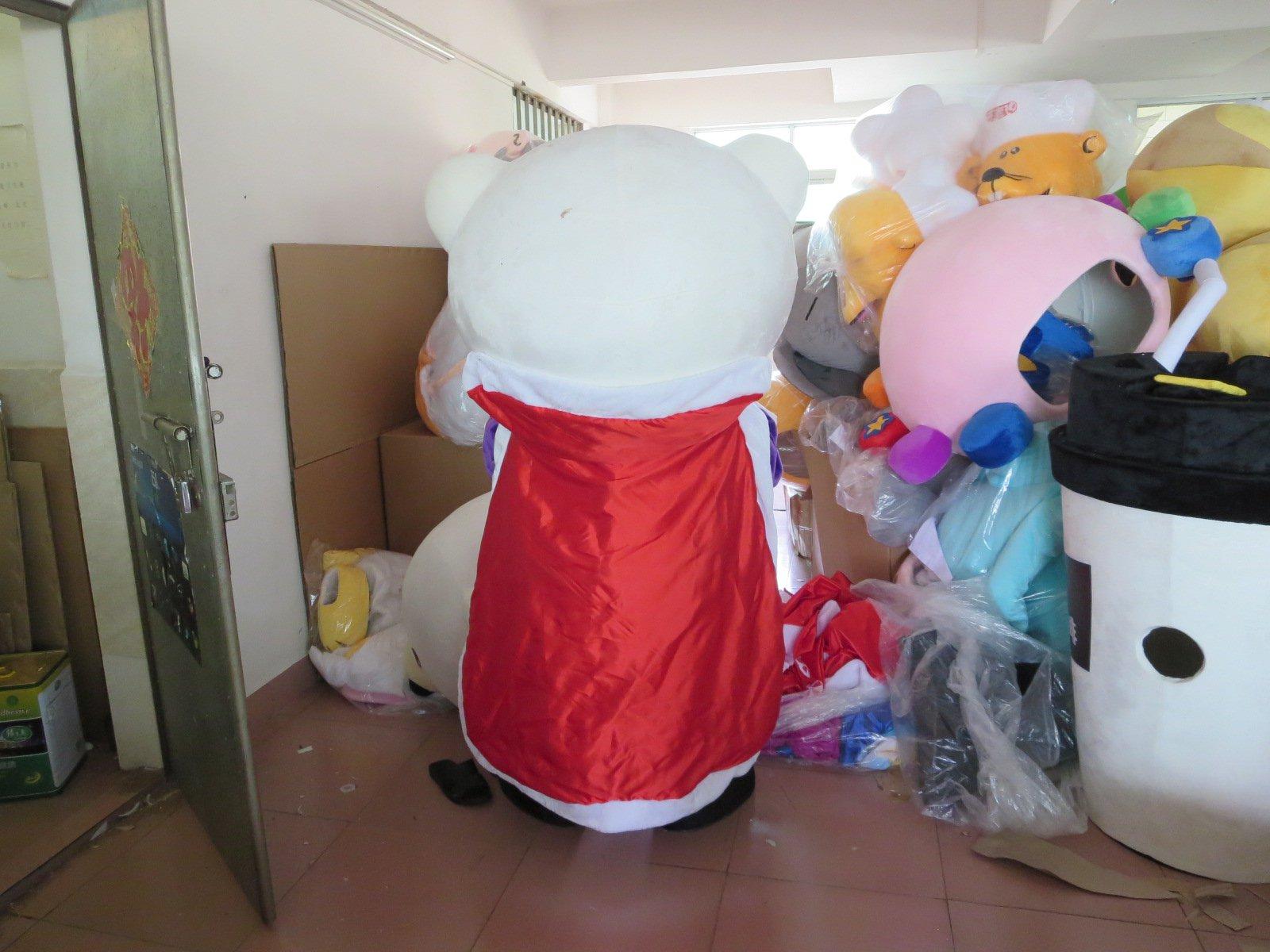 Couple Bear Doll Dress Costumes and Candy White Female Bear Snowman Cartoon Dolls Summer Dress Mascot Costume