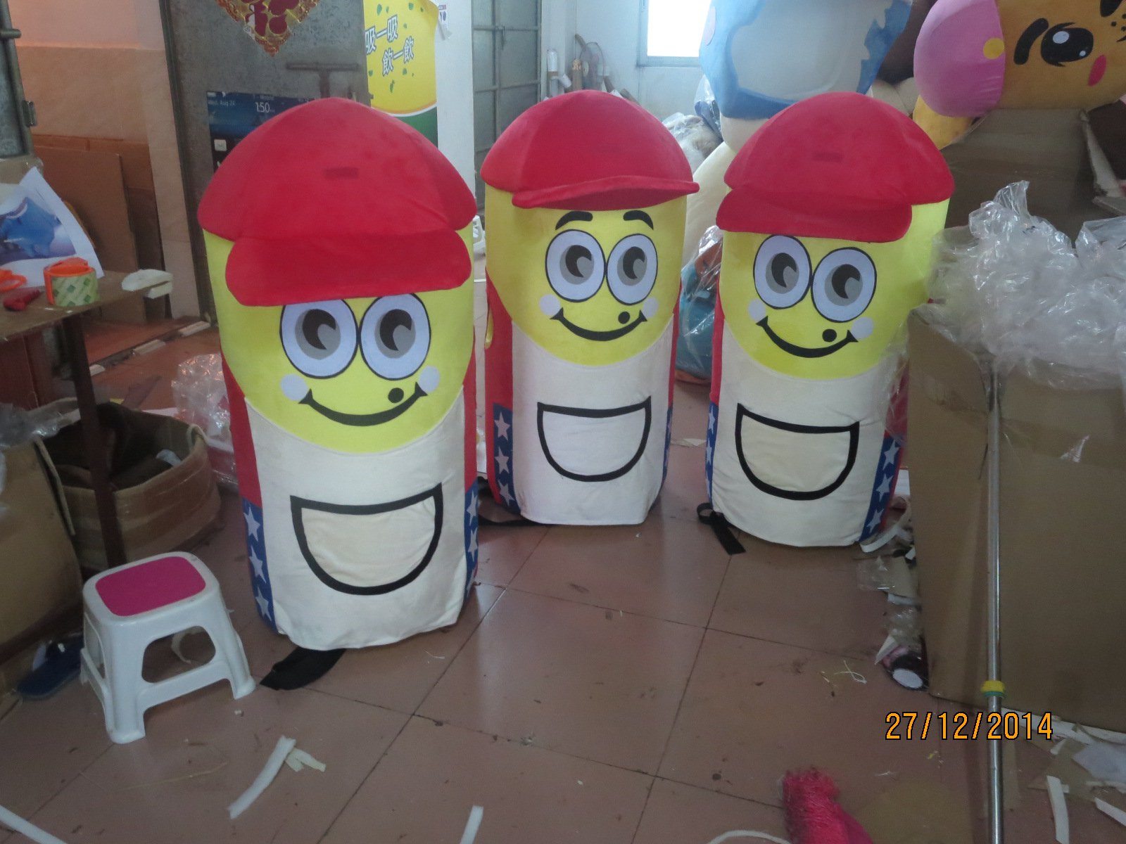 Shopping Malls Promotional Hats Shopping Guide Cartoon Mascot Dolls Promotion Distributed Gifts Cartoon Dolls Clothing Mascot Costume