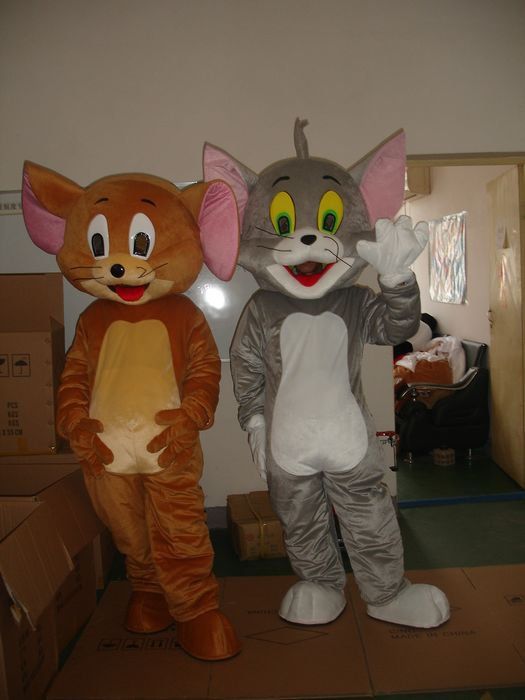 Tom and Jerry) Film and Television Animation Cartoon Cartoon Dolls Clothing Performance Clothing Soup Lucky Cat and Mouse Mascot Costume