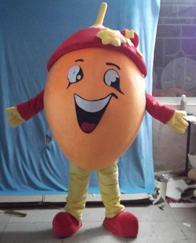 Cartoon Doll Clothing Cartoon Fruit Orange Clothing Dark Eye Open Four Fingers Gloves Ccs Card Mascot Costume