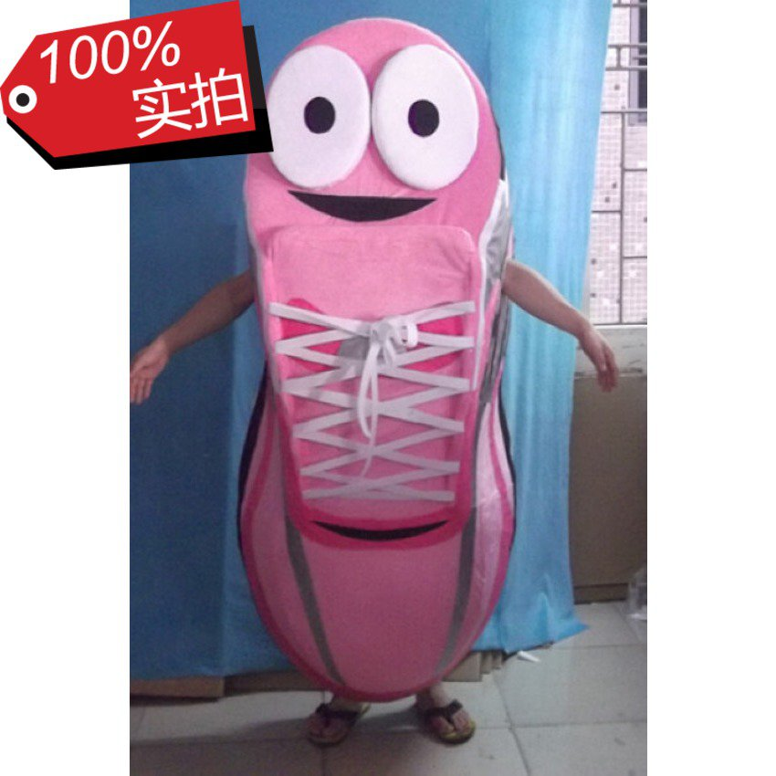 Cartoon Doll Clothing Giant Pink Shoes Blue Canvas Shoes Walking Performance Props Cartoon Clothing Mascot Costume