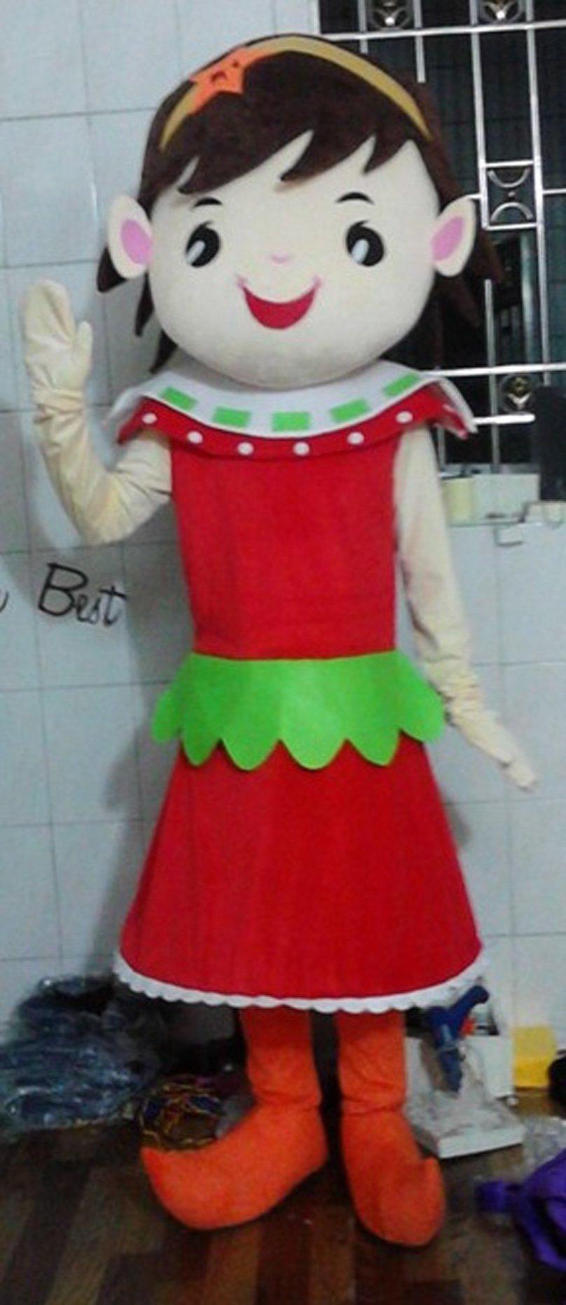 Cos Clothing Animation Cartoon Show Beautiful Dress Red Dress Walking Cartoon Dolls Performances Mascot Costume