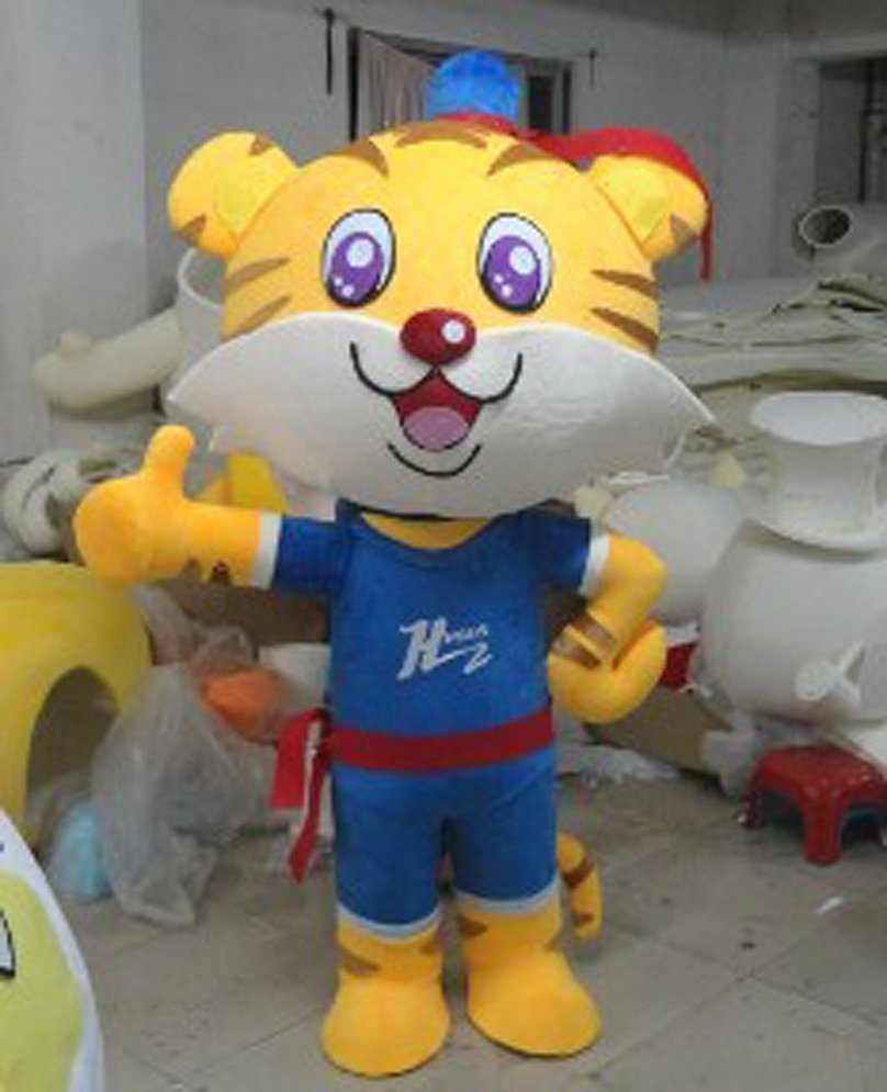 Display Shop Door Exhibiting Magic Mascot Tiger Tiger Color Cartoon Dolls Cartoon Clothing Mascot Costume