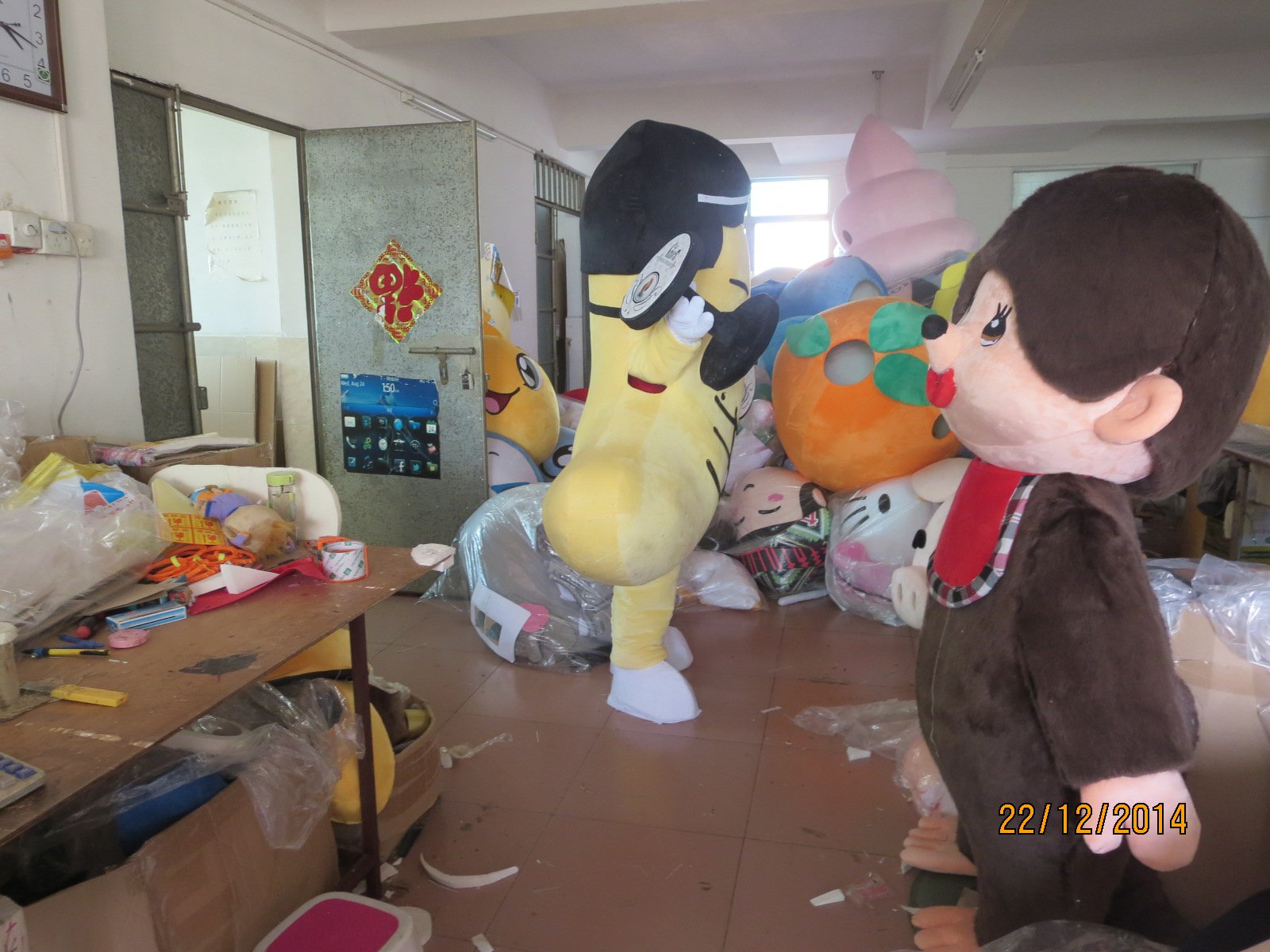 Doll Dress Costumes Animation Film Cos-food Cashew Nuts Mascot Cartoon Costumes Mascot Costume