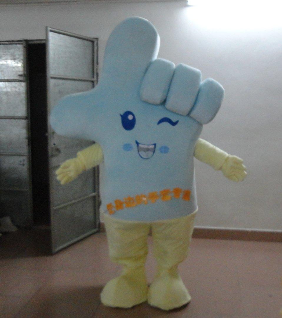 Hair Cartoon Mascot Eighty-eight Finger Glove Club Gesture Cartoon Dolls Clothing Warm Gloves Mascot Costume