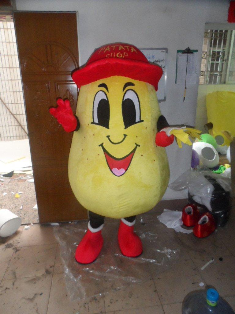 2014 The New Plant-based Animation Model Potato Fries Mascot Cartoon Cartoon Dolls Clothing Mascot Costume