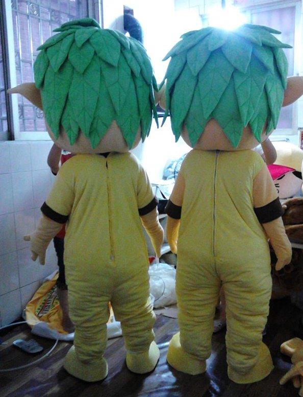 Avatar Film Props Kids Cartoon Dolls Green Ambassadors Green Baby Cartoon Clothing Mascot Costume