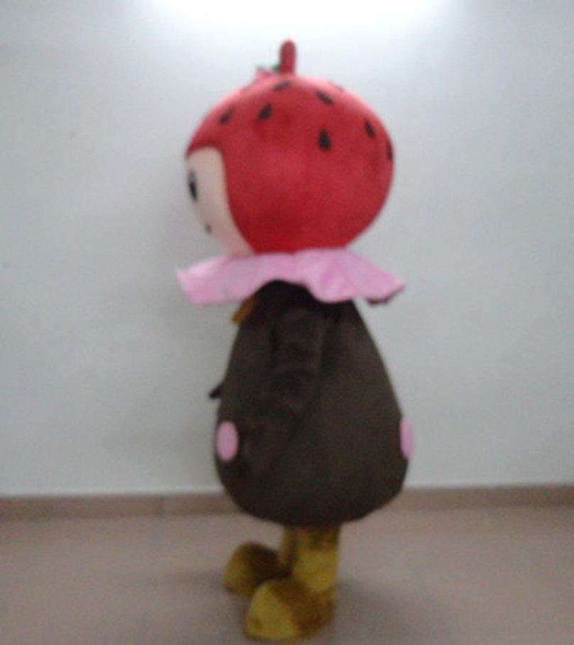 Chocolate Strawberry Red Food Cartoon Cartoon Dolls Cartoon Clothing Cos Dress Show Children Mascot Costume