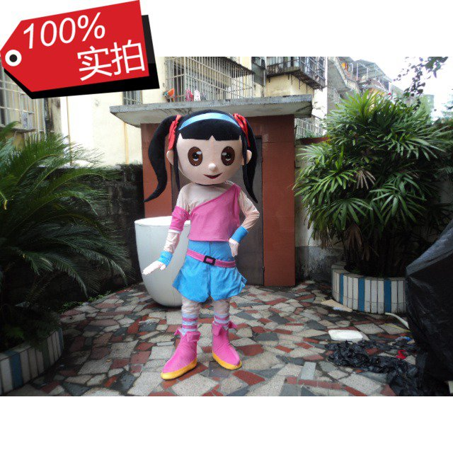 Dress Up Cartoon Characters Cartoon Show Clothing Anime Cartoon Dolls Cute Girl with Pigtails Girl Clothes Mascot Costume