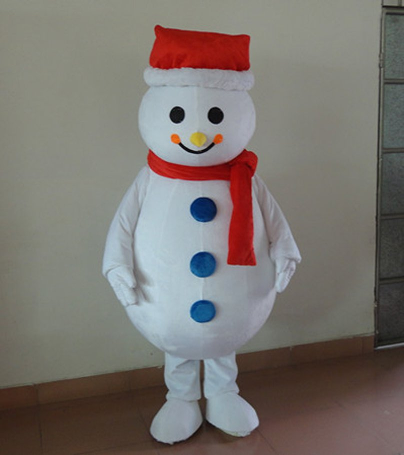 Snowman Christmas Snowman Cartoon Dolls Wearing Hats Scarves Snowman Brothers Cartoon Clothing Mascot Costume